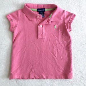 Ralph Lauren Girls Classic Polo - Pink & Green